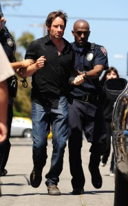 Duchovny Arrest Scene